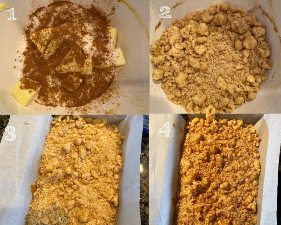 cinnamon crumble steps in photos