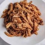 Slow Cooker Shredded Chicken on plate