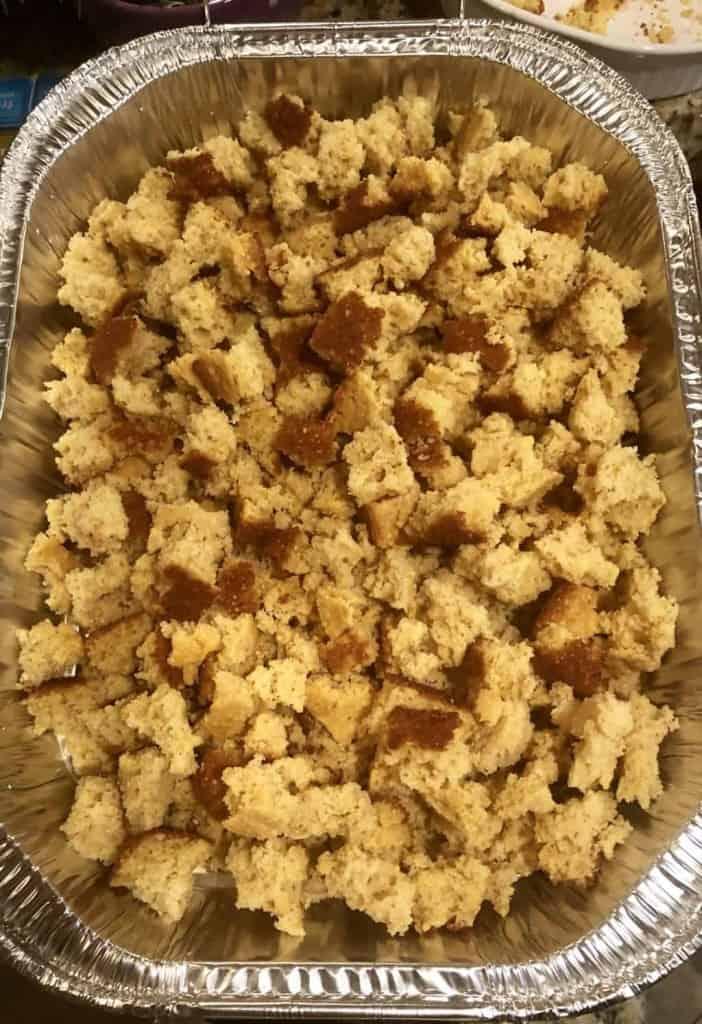 fresh cornbread crumbled