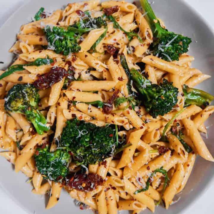 Sun-dried Tomato Broccolini Pasta