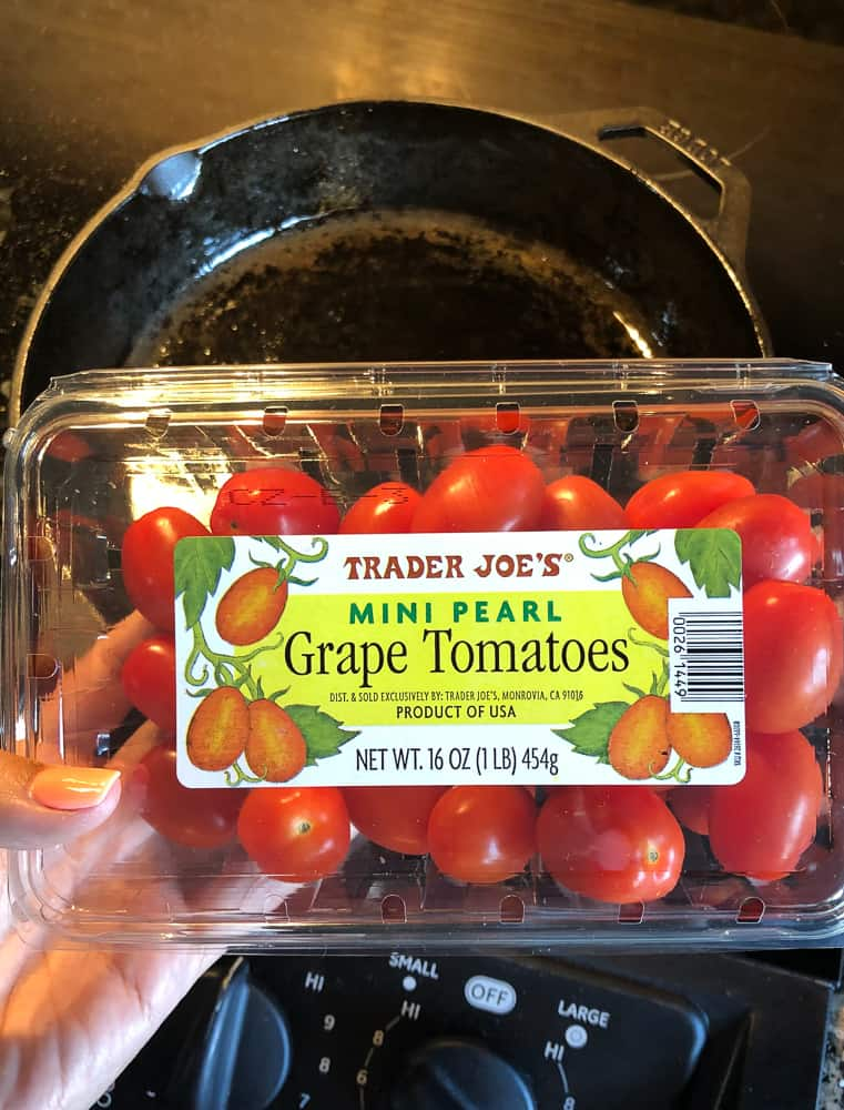 photo of box of grape tomatoes