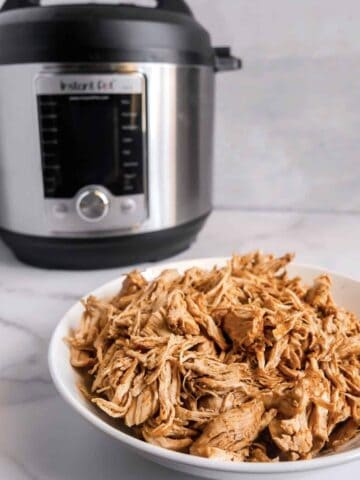 shredded chicken made in the instant pot with mexican flavors