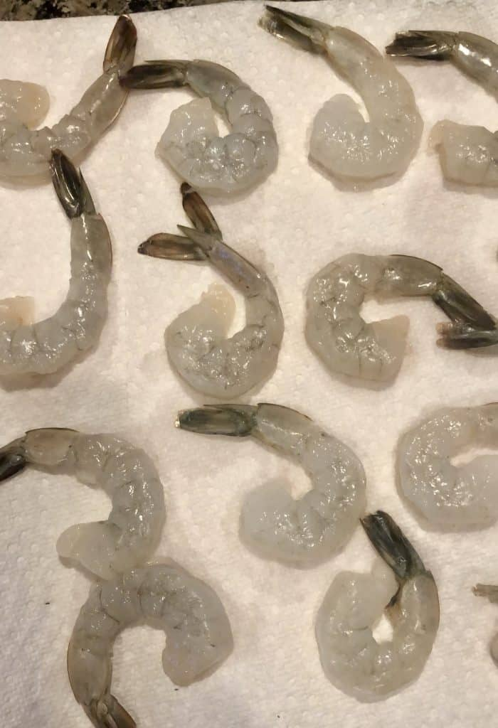 shrimp on a paper towel