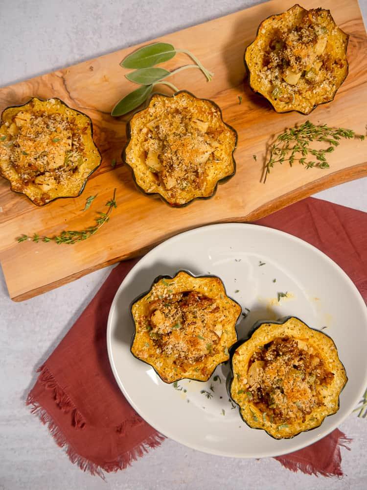 5 stuffed acorn squash