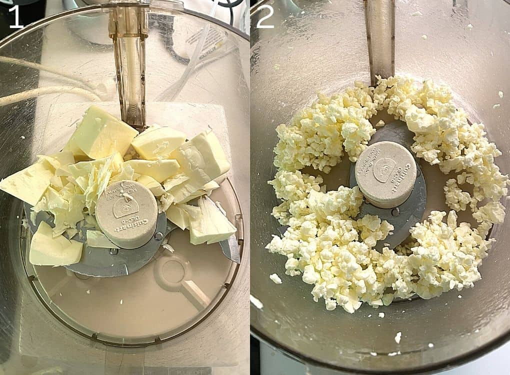 sliced butter in food processor