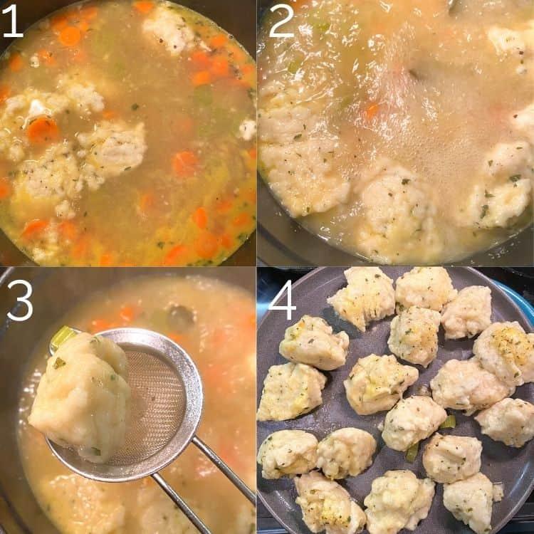 cooking dumplings in soup