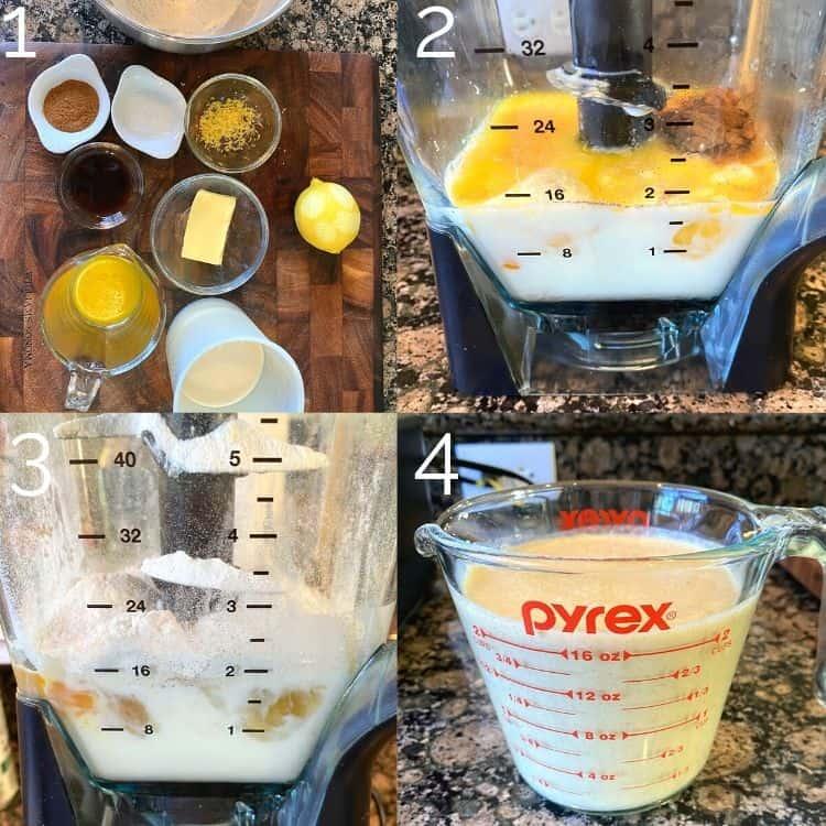 blending ingredients for pancake batter