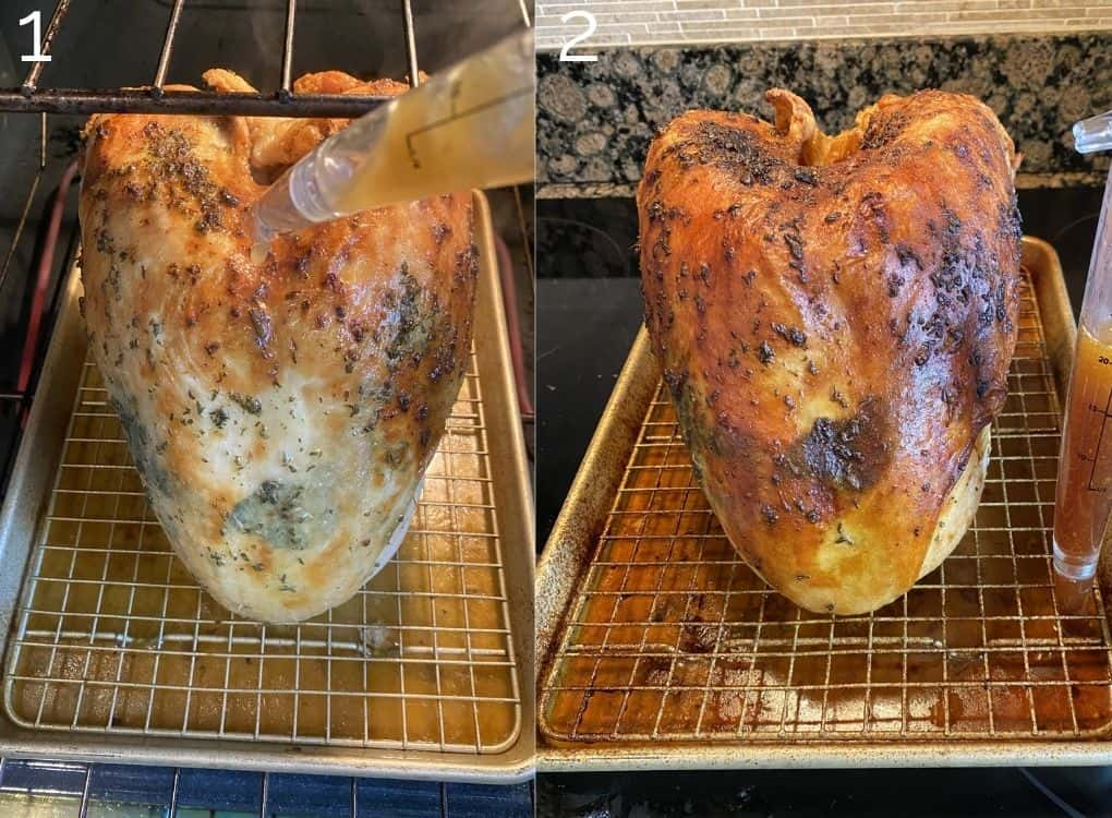 basting turkey breast in the oven
