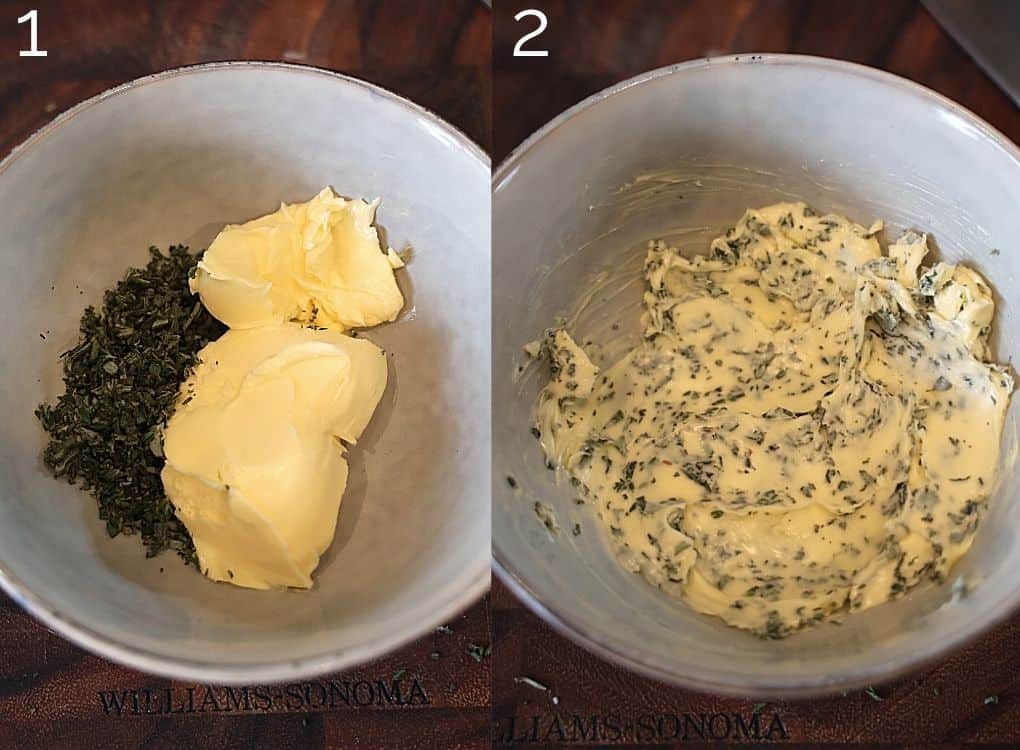 herb butter in a bowl