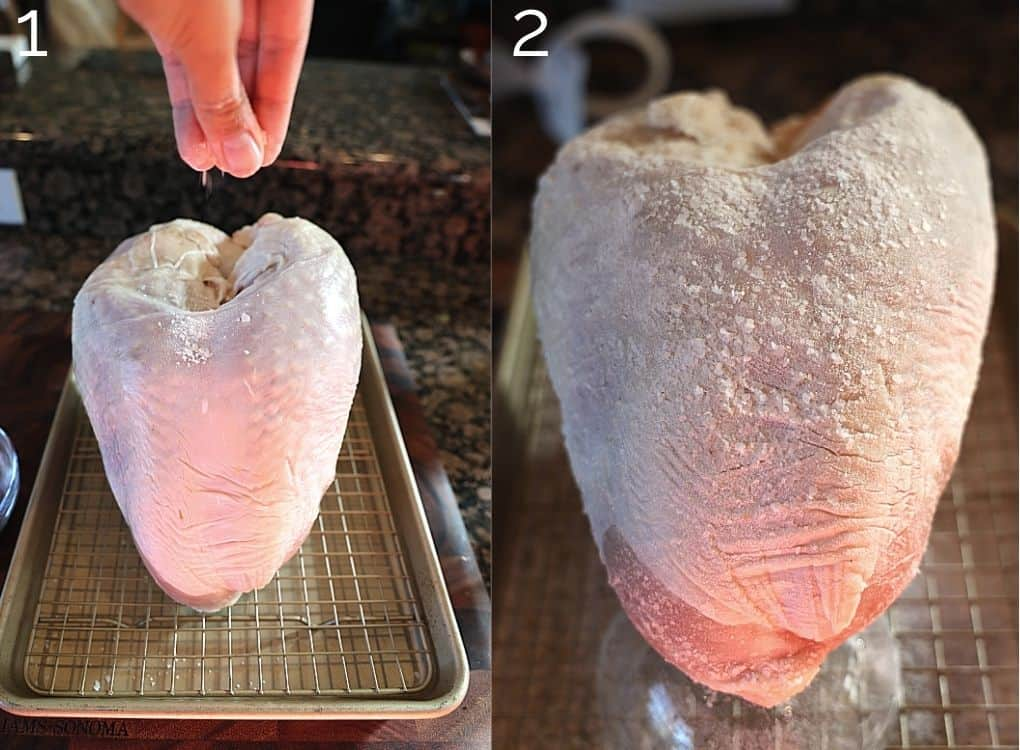 salting turkey breast