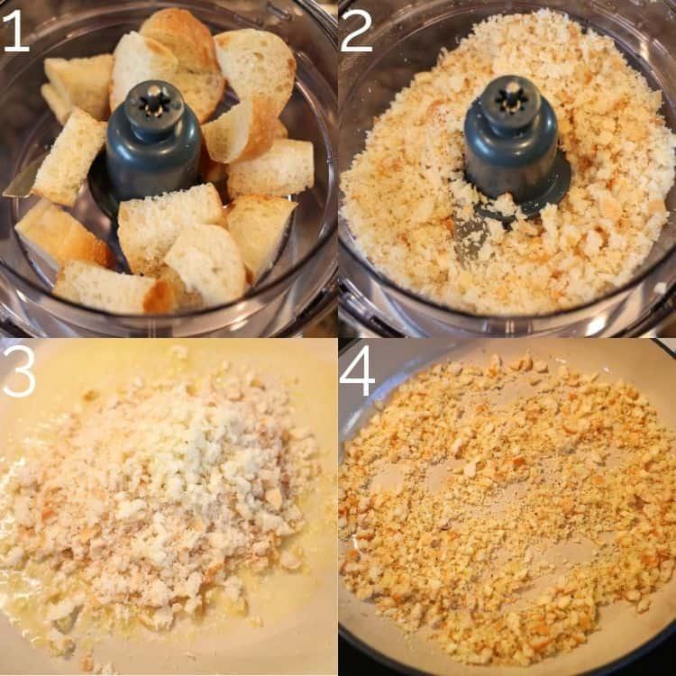 making breadcrumbs in a food processor