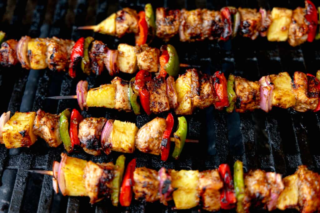 jerk chicken on the grill