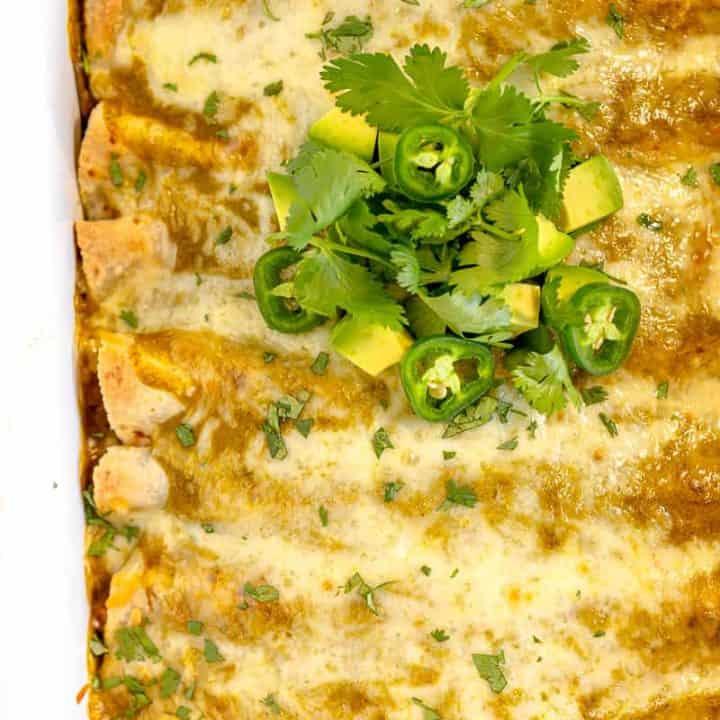 Vegetarian Verde Enchiladas