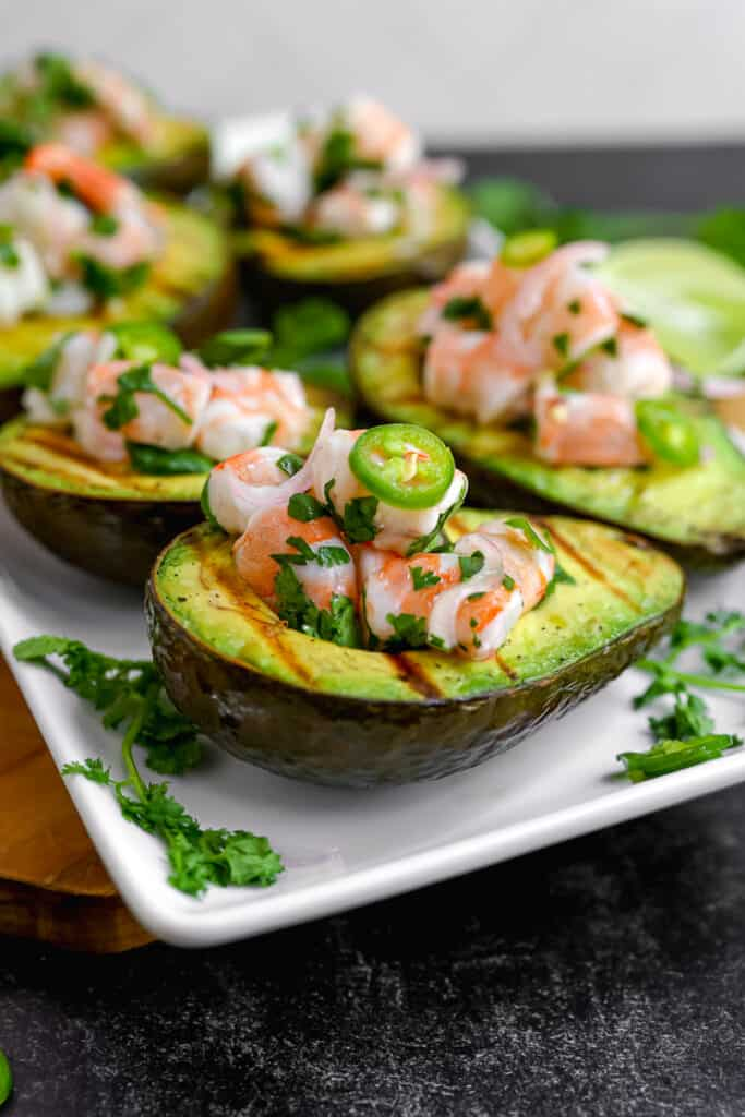 avocados stuffed with shrimp ceviche
