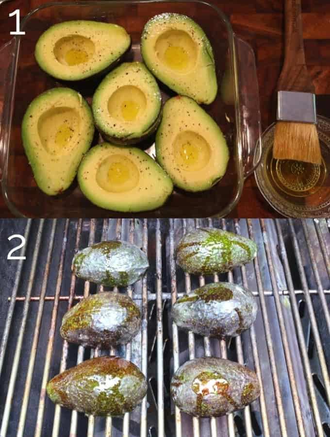 grilling avocados on the grill