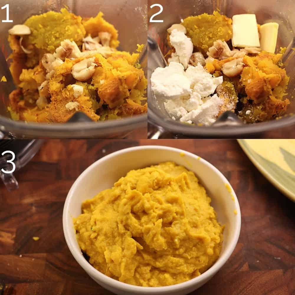 squash puree in a bowl